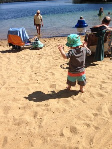 Little man in the sand