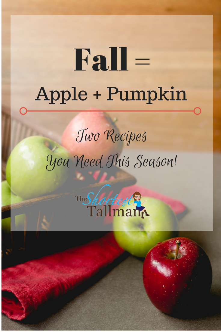 Fall = Apple + Pumpkin! www.theshortesttallman.com