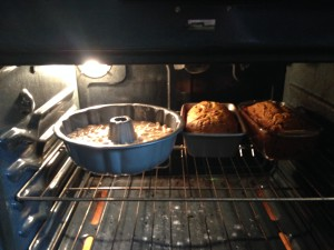 The oven was busy.